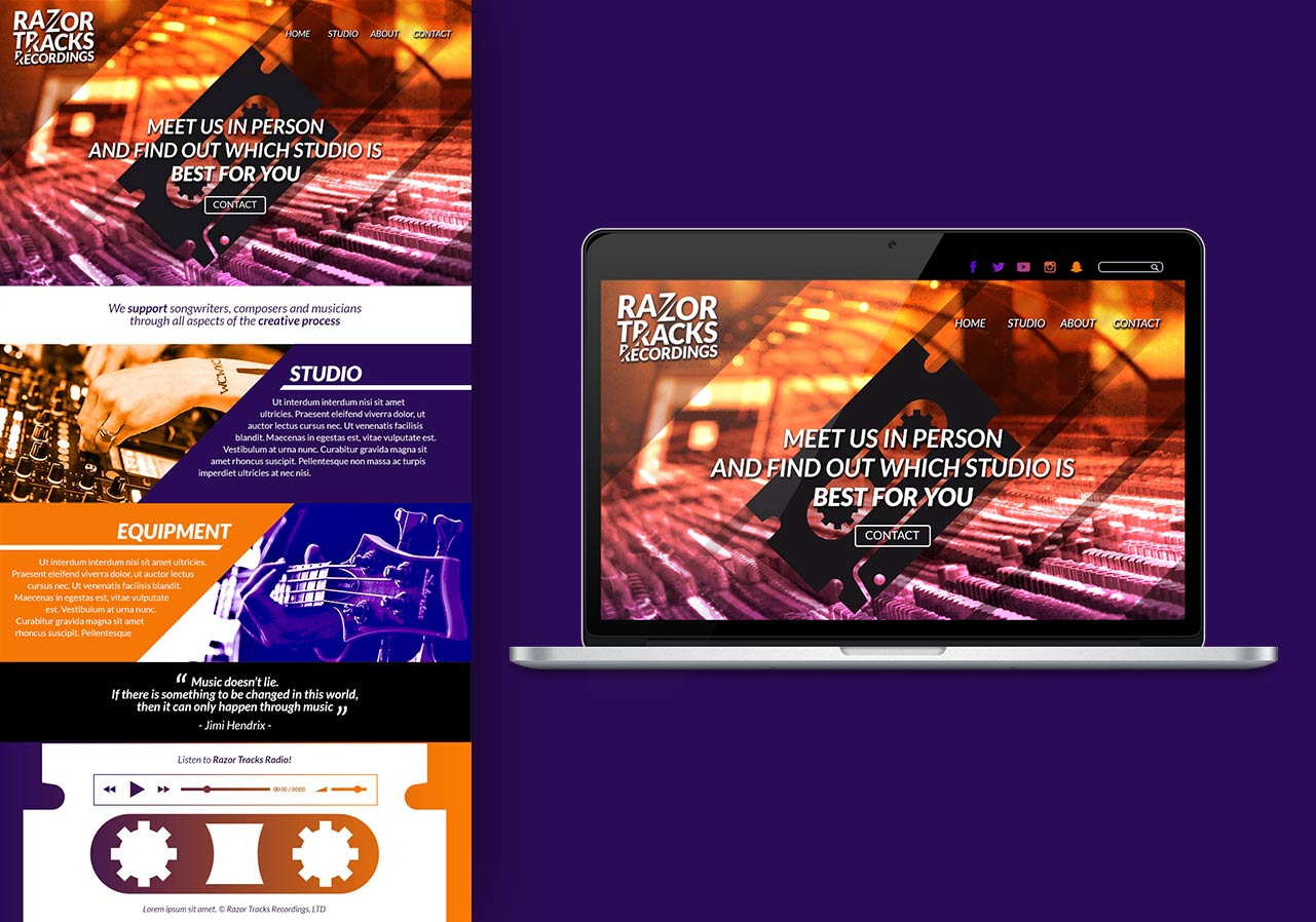 logo recording studio web