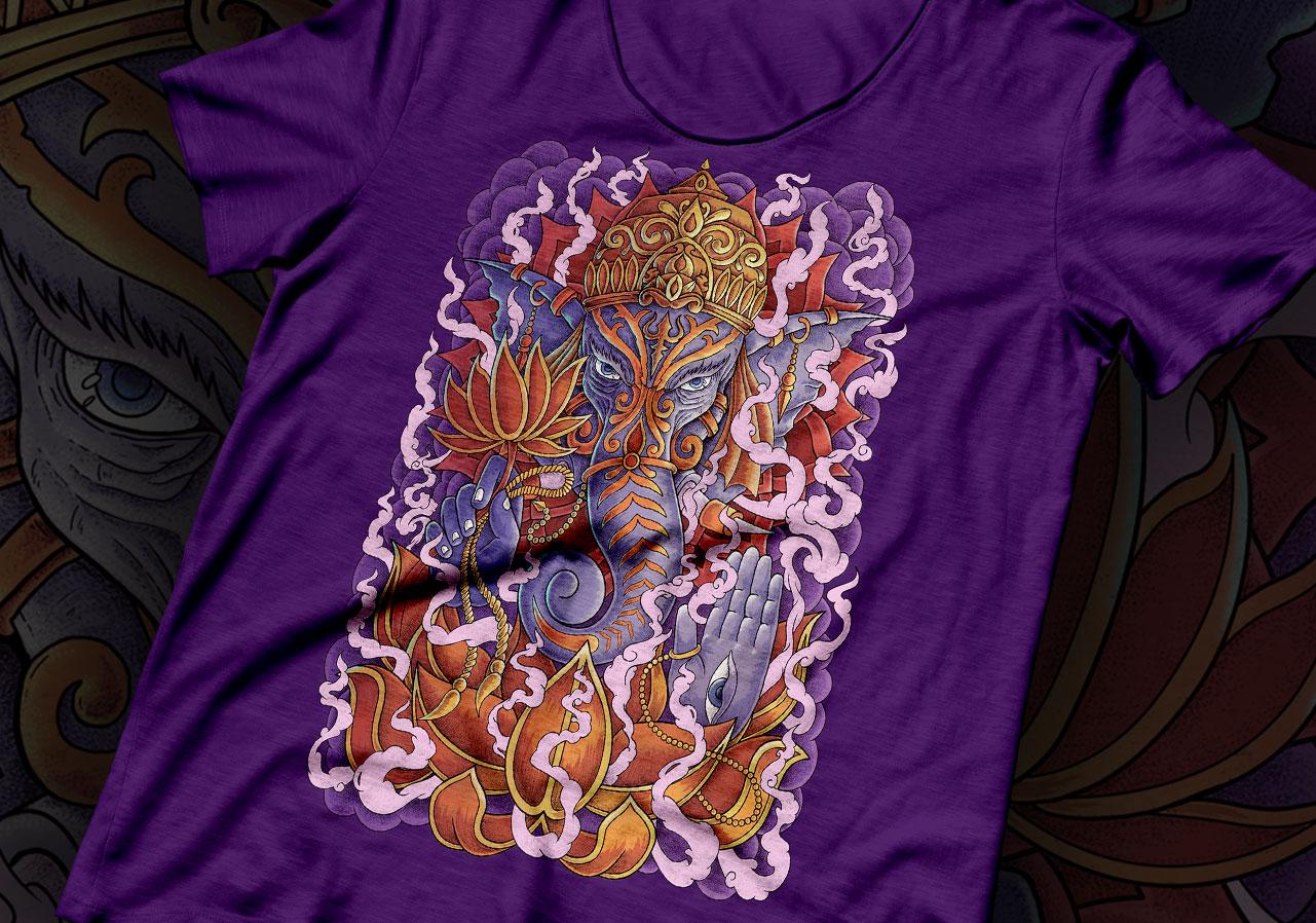 ganesh tattoo tshirt 1