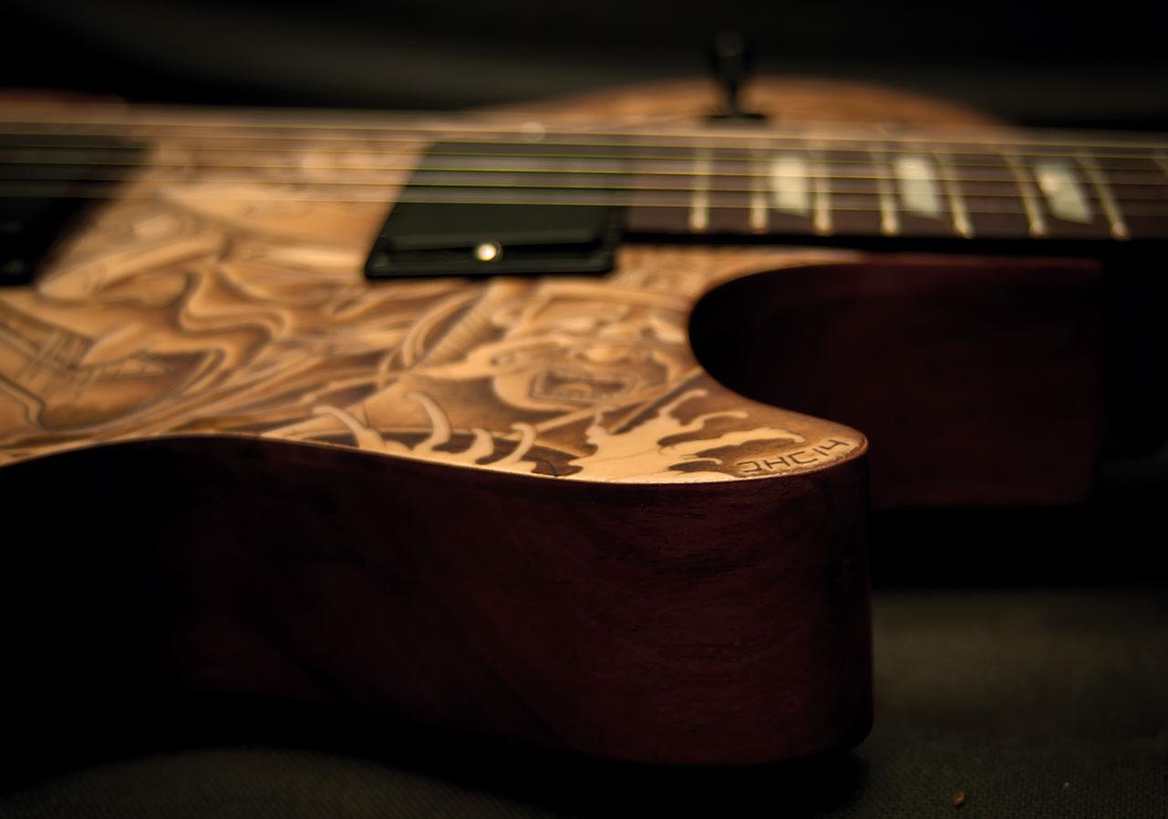 les paul custom guitar tattoo 10