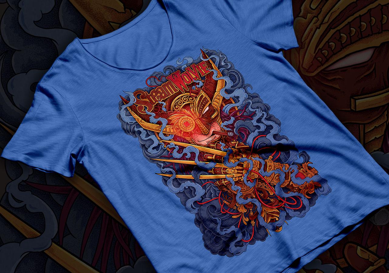 steampunk lobezno wolverine tshirt 4