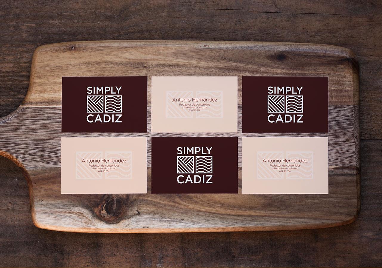 logo gastronomy gastronomia cadiz business card