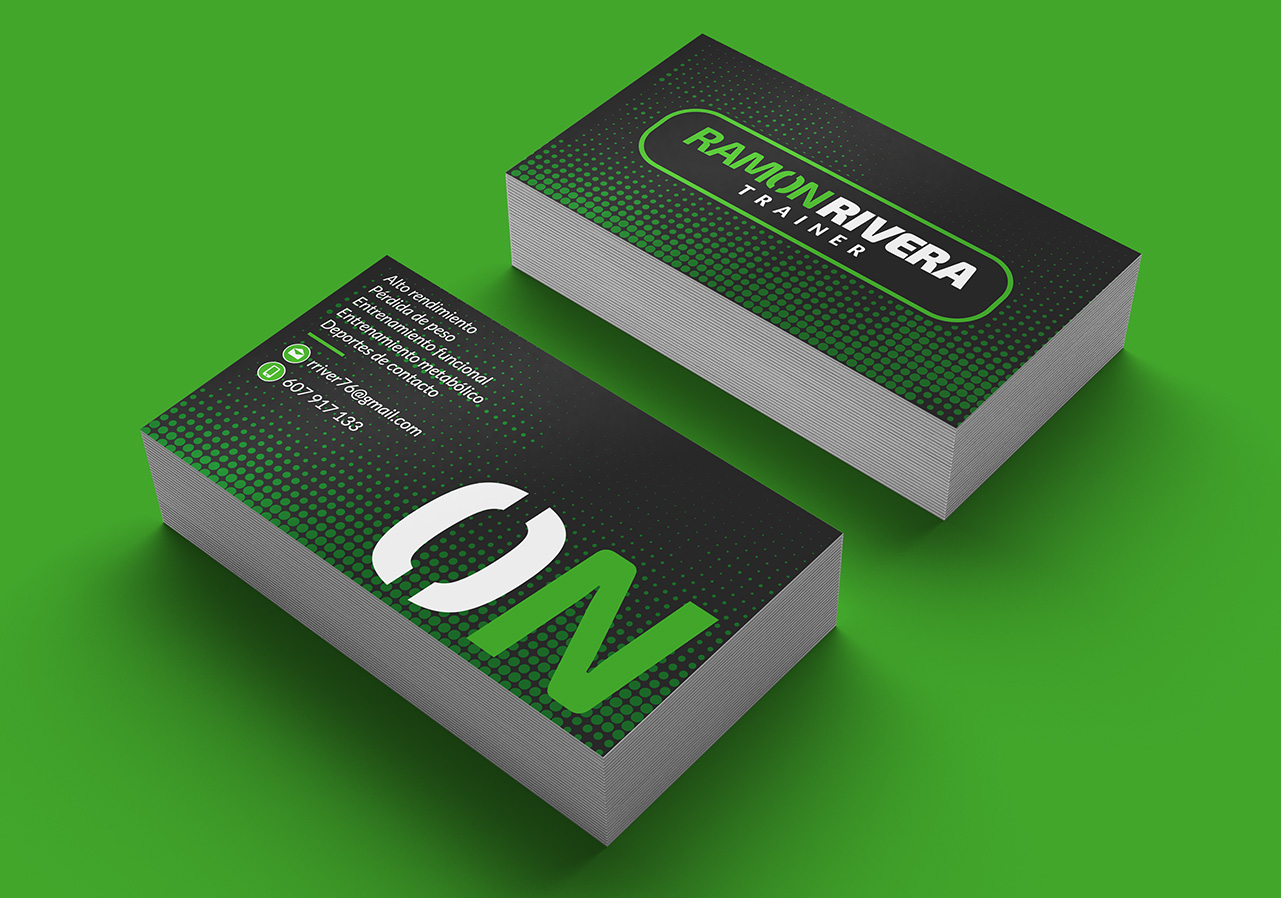logo personal trainer business card
